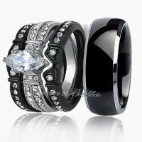 Black Gold Wedding Ring Sets - staruptalent.com