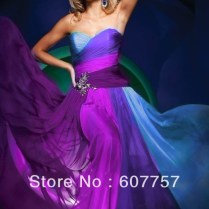 Blue And Purple Wedding Dresses