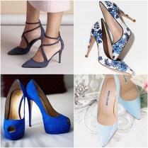 Blue Wedding Shoes That Dazzle