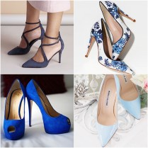 Blue Wedding Shoes That Dazzle
