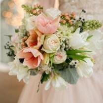 Blush Amaryllis, Tulip, Hydrangea, And Berry Winter Wedding
