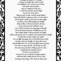 Bridal Shower Gift Candle Poem Basket