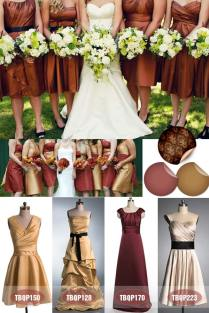 Bridesmaid Dresses Fall 2013 – Amazing Color Inspiration