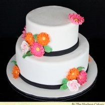 Bright Bridal Shower Cake