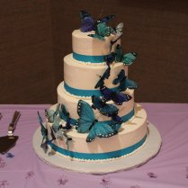 Butterfly Wedding Cake By Mama
