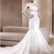 Buy Mermaid Strapless Corset Style Wedding Dresses From