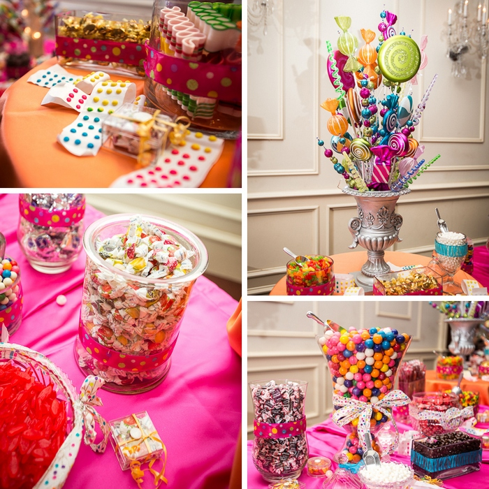 Candy Themed Wedding Reception