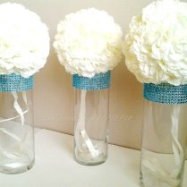 Centerpiece Cylinder Vase Lot Turquoise Teal By Thepartydeeva