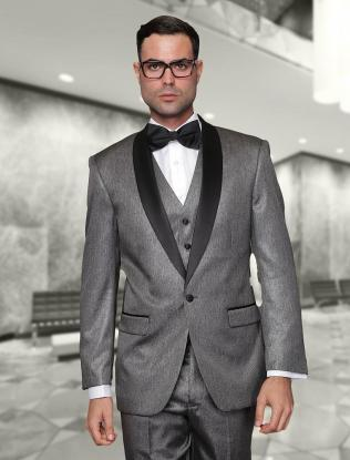Cheap Cheap Grey Groom Wedding Suit