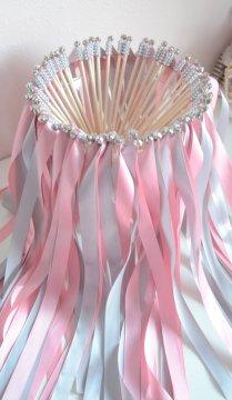 Chic Wedding Ribbon Wands