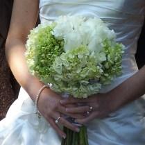 Classic White Hydrangea Wedding Bouquet $50