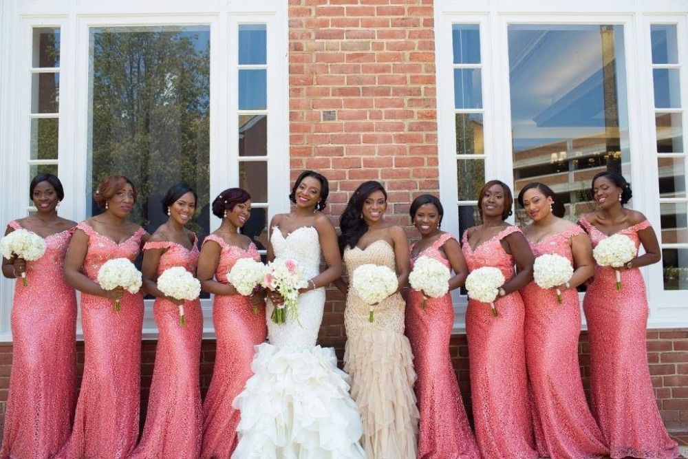 Coral And Champagne Wedding