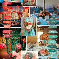 Coral And Teal — Flowerful Events