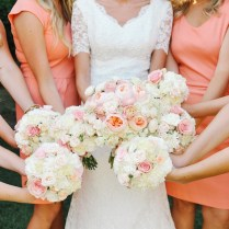 Coral Peach Blush Ivory Wedding Flowers At Thanksgiving Point