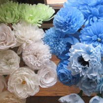 Crepe Paper Flowers – A Blue And Yellow Wedding – Q Is For Quilter