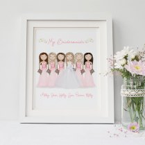 Custom Bridal Party Portrait Bridesmaid Gift By Sweetcheeksimages