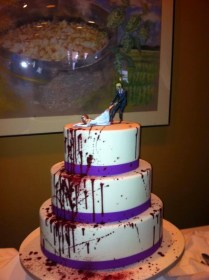 Daughters Of The Emperor Zombie Wedding Cake Topper