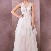 Divine Atelier Wedding Dress 2015 Bridal Sleeveless Sheer Lace