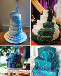 Diy Peacock Wedding Cake Decoration