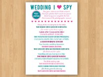 Diy Printable Wedding I Spy By Inkddesignstudio On Etsy