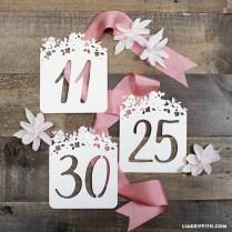 Diy Wedding Table Numbers (round 2)