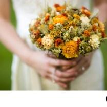 Dried Flower Bridal Bouquet Top Wedding Photographers