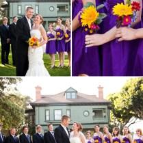 Eclectic Diy Purple And Yellow Wedding