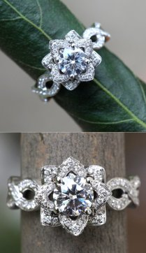 Ever Blooming Love Diamond Engagement Flower By Beautifulpetra