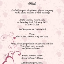 Examples Of A Wedding Invitation Card