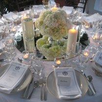 Felicia's Blog Wedding Centerpiece Of White Hydrangea The