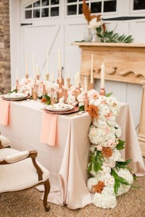 Gallery Copper Rose Gold Wedding Table Decor Ideas