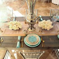 Gallery Mint And Gold Winter Wedding Table Decor Ideas