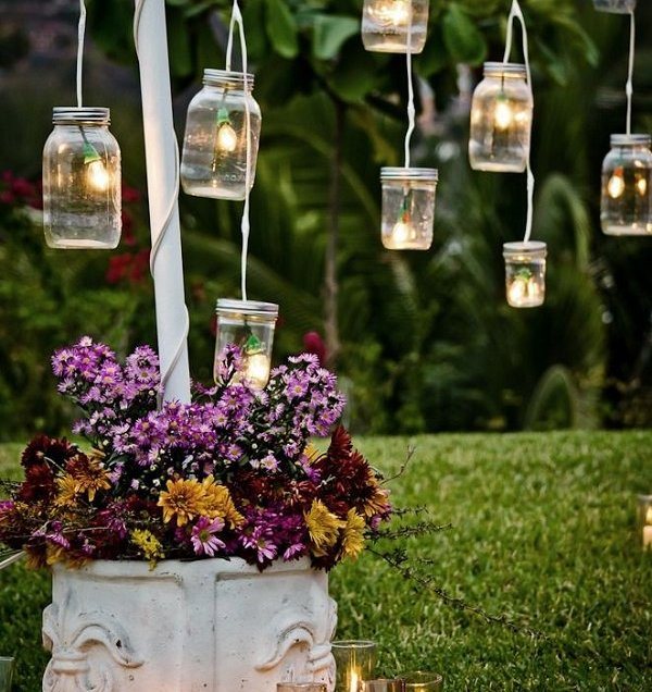 Gallery Vintage Mason Jars Outdoor Wedding Decor Ideas