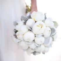 Gallery White Winter Bridal Bouquet With Grey Highlights