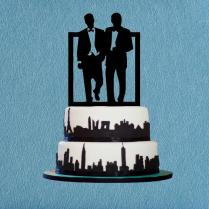 Gay Cake Topper,same Sex Cake Topper,silhouette Cake Topper,unique