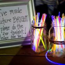Glow Sticks Welcome Table Wedding Reception Ideas