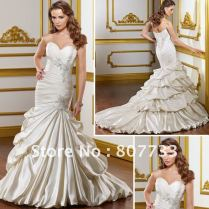 Gynnell's Blog Romantic Lace Strapless Mermaid Wedding Dress From