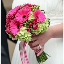 Hot Pink, Green & Gray Real Wedding