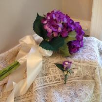 Hydrangea Bridal Bouquet, Arm Bridal Bouquet, Beautiful Purple