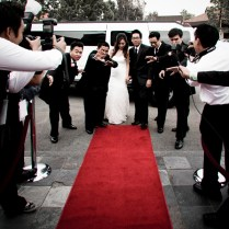 Images Of A Individual Red Carpet Wedding