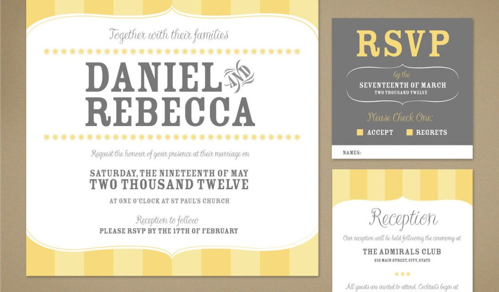 Informal Wedding Reception Invitations Wording: Informal Wedding Invitation Wording