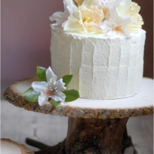 Iron, Wooden Cake Plate