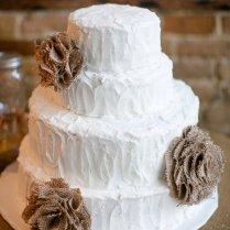 Items Similar To 3 Ooak Natural Burlap Flower Wedding Cake Decor