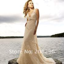 Ivory Champagne Wedding Dress
