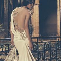 Julia Kontogruni Bridal 2015 Wedding Dress One Shoulder Sheer