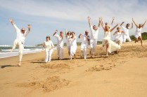 Kay And Marco's All White Beach Wedding