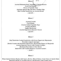 Kc J Catering Wedding Menus Kansas Call Jeff At (913) 961