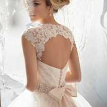 Light Pink Ball Gown Wedding Dress