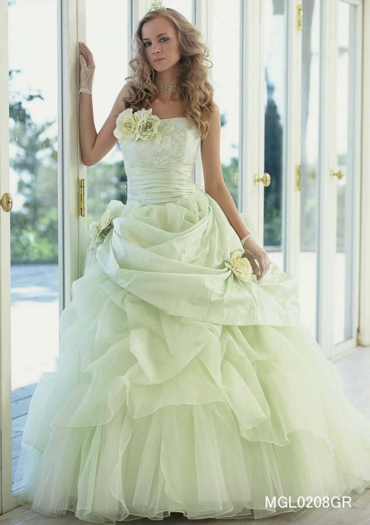 Light Green Wedding Dress