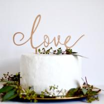 Love Cake Topper Wedding Cake Decoration Wedding Sign